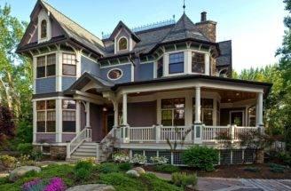 Casas Madeira Americanas Exterior