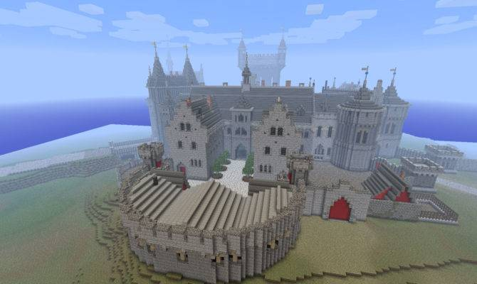 Castle Schematic Kings Minecraft Medieval Blueprints