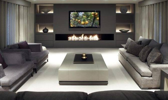 Charming Media Room Design Ideas Elegant Layout