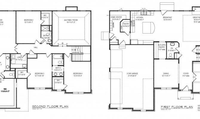 Closet Layout First Second Floor Plan Walk Design