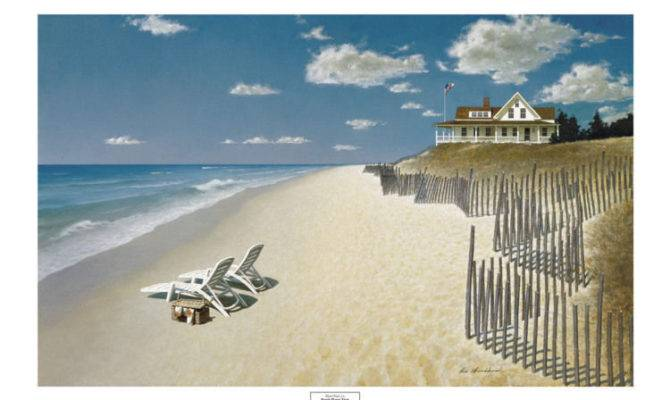 Coastal Art Print Beach House Zhen Huan Seascape