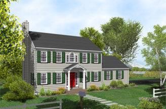 Colonial House Plan Posey Home Plans Sale Original