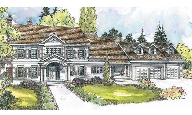 Colonial House Plans Princeton Associated Designs