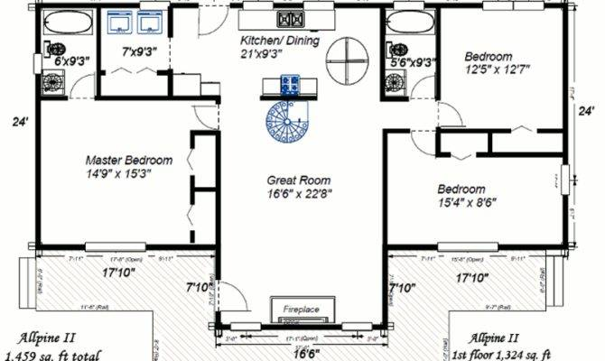 Colorado Log Homes Home Floor Plans Allpine Lumber