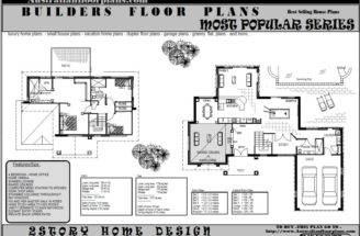 Construction Plans Story Storey Floor Plan Double House