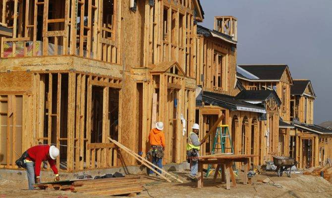 Construction Workers Build Single Homes San Diego