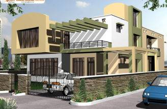 Contemporary Duplex House Design Small