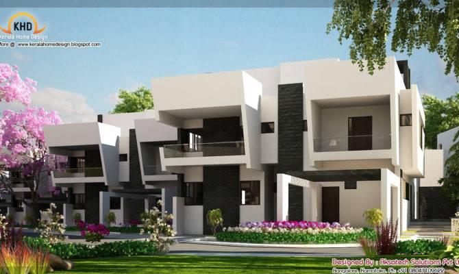 Contemporary Home Elevations Kerala Design Floor Plans