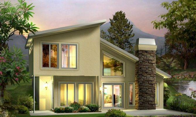 Contemporary Two Story House Plans Modern Home Architecture Design