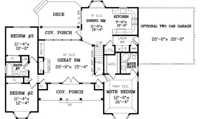 Country Style House Plan Beds Baths Main