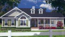 Country Style House Plan Large Wrap Around Porch Covered