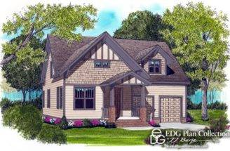 Craftsman Bungalow House Plan Features Large Open Floor