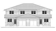 Craftsman Duplex Home Plan Back Plans