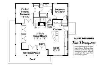 Craftsman House Plan Cedar First Floor