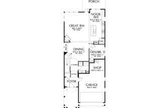 Craftsman House Plan Narrow Lot Abundant Character