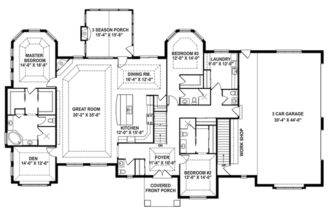 Craftsman House Plan Story Retreat Open Floor