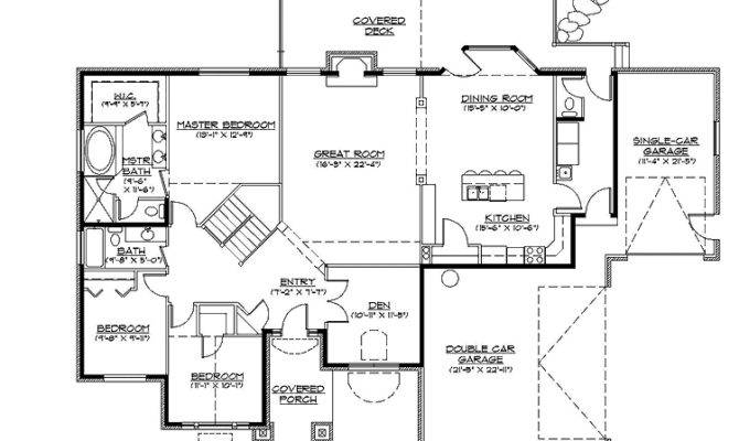 Craftsman Style Rambler Home Plans Mountain