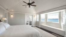 Custom Built Vaulted Ceiling Hamptons Beach House Master Bedroom