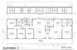 Daintree Met Kit Homes Bedroom Steel Frame Home Floor Plan