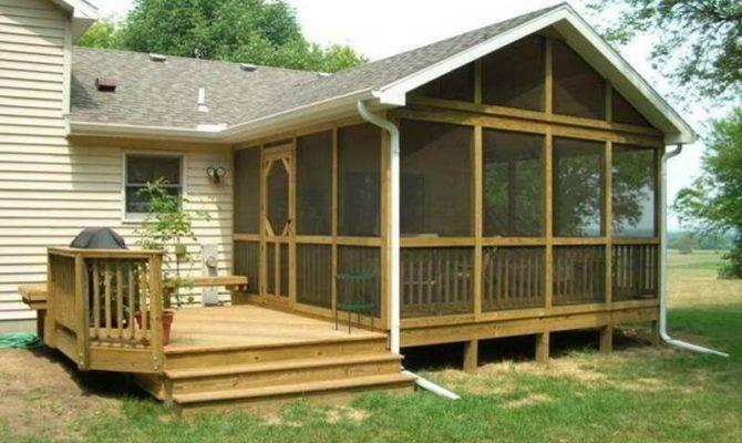 Deck Back Porch Design Houses Designs