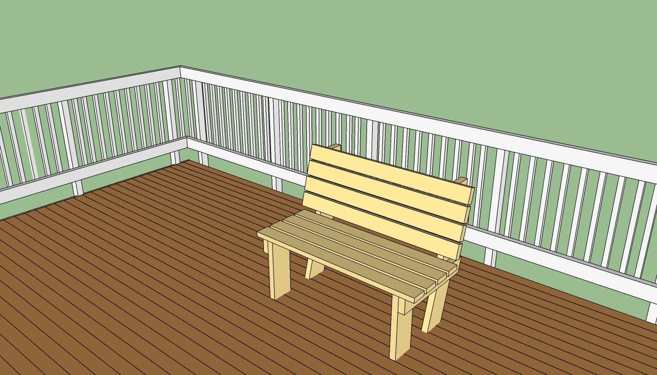 Deck Bench Plans Howtospecialist Build Step