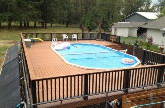 Deck Ideas Backyard Small Designs Above Ground Pools