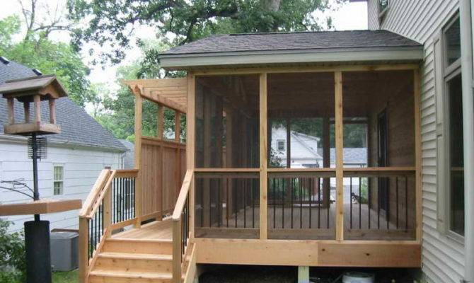 Deck Ideas Decks Screened Porch House Design