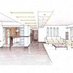 Design Sketches Living Room Interior Chinese Traditional