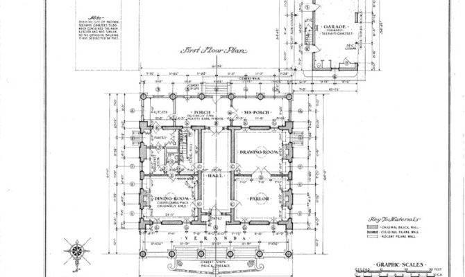 Details Evereux Antebellum Mansion House Blueprints