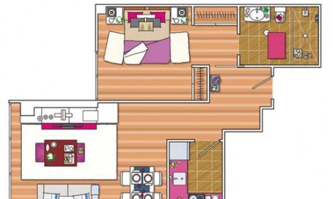 Distinctive Spacious Apartment Drawing One Total Snapshots Modern