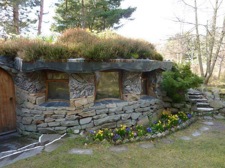 Diy Stone House Hobbit Plans Yurts Earth Homes Home Plans