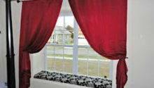 Door Windows Window Seat Designs Red Curtain Beautiful