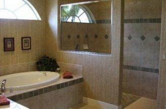 Doorless Walk Shower Design Features Open Window