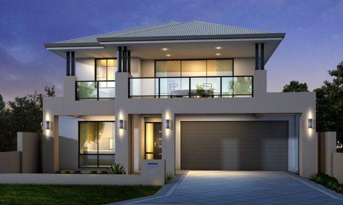 Double Storey Home Design Idea Minimalist Modern