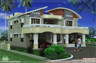 Double Storey Luxury Home Design Kerala