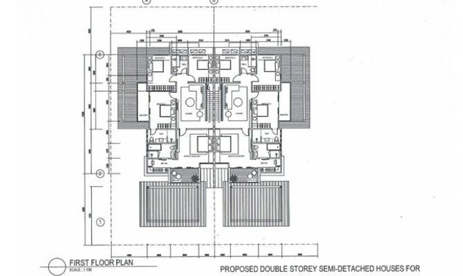 House Plans For Semi Detached House And Home Design