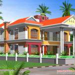 Double Story House Elevation Kerala Home Design Floor Plans