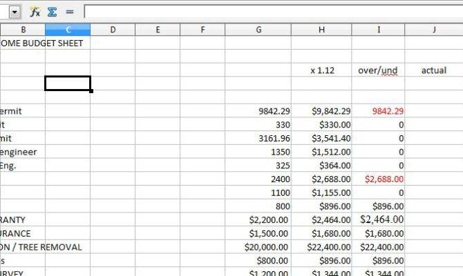 Downloadable Budget Spreadsheet Your New Home Renovation