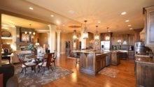 Dream Home Open Floor Plan Between Kitchen Living Room Area
