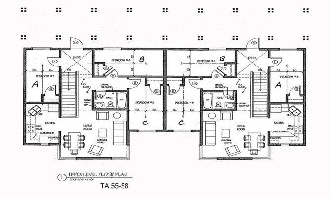 Duplex House Plans Blueprints Floor Building
