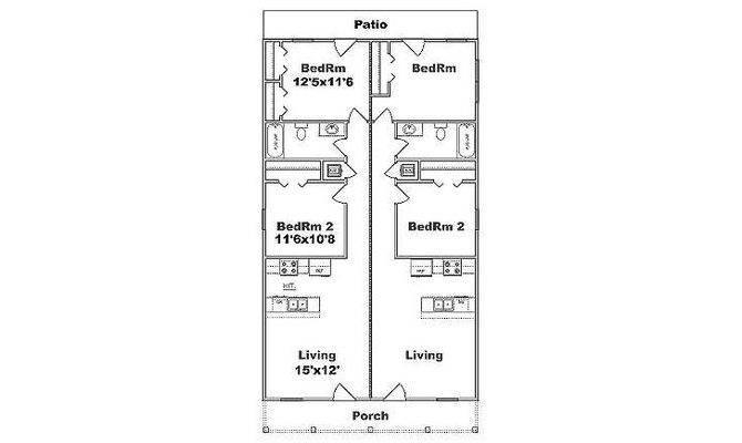 Duplex Narrow Lot House Pinterest