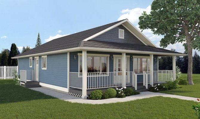 Economical Ranch Home Bedrooms Porch Plans