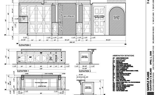 Electrical Specs Island Details Mechanical Plan Lighting