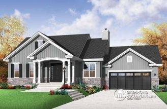 Elegant Two Bedroom Bungalow Drummond House Plans Blog