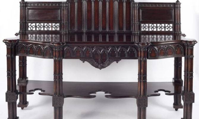 English Gothic Revival Sideboard Dating Late Victorian