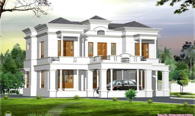 English Style Bedroom Kerala Bungalow Home Elevation Designed