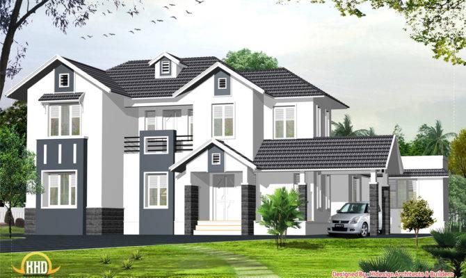 English Style Home Kerala Design Floor Plans