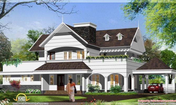 English Style House Kerala Home Design