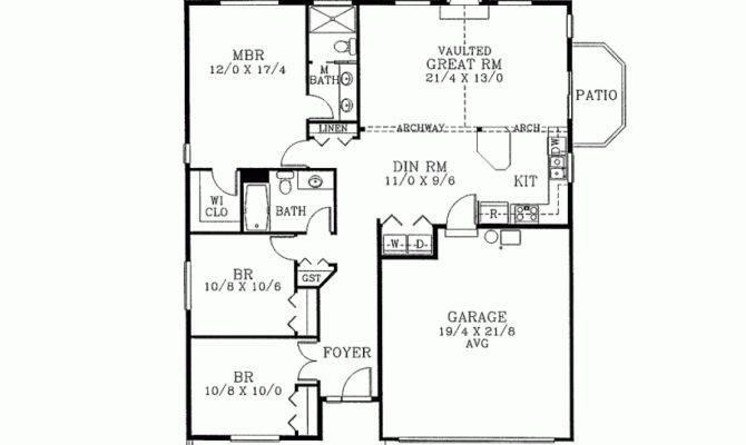 Eplans Bungalow House Plan Three Bedroom Square Feet