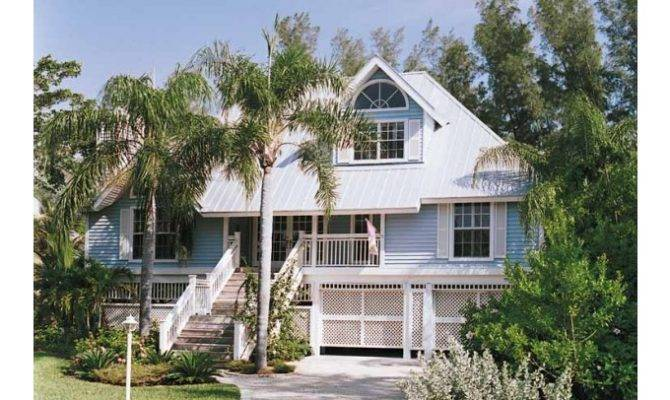 Eplans Cottage House Plan Key West Island Style Square Feet